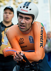 Tom Dumoulin of the Netherlands during the Men Elite Individual Time Trial a 52.5km race from Rattenberg to Innsbruck 582m at the 91st UCI Road World Championships 2018 / ITT / RWC / on September 26, 2018 in Innsbruck , Austria.Photo by Vid Ponikvar / Sportida