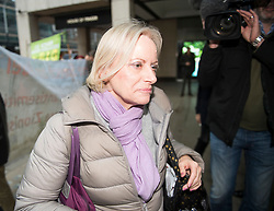 © Licensed to London News Pictures. 22/01/2018. London, UK. New chair of the National Executive Committee's Discipline Panel CHRISTINE SHAWCROFT arrives at Labour Party headquarters ahead of an NEC (National Executive Committee) meeting. A number of pro Corbyn party members have recently been elected to the NEC, in what has been seen as a shift to the left for the ruling body. Photo credit: Ben Cawthra/LNP
