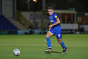 AFC Wimbledon midfielder Anthony Hartigan (8) passing the ball during the EFL Trophy (Leasing.com) match between AFC Wimbledon and U23 Brighton and Hove Albion at the Cherry Red Records Stadium, Kingston, England on 3 September 2019.
