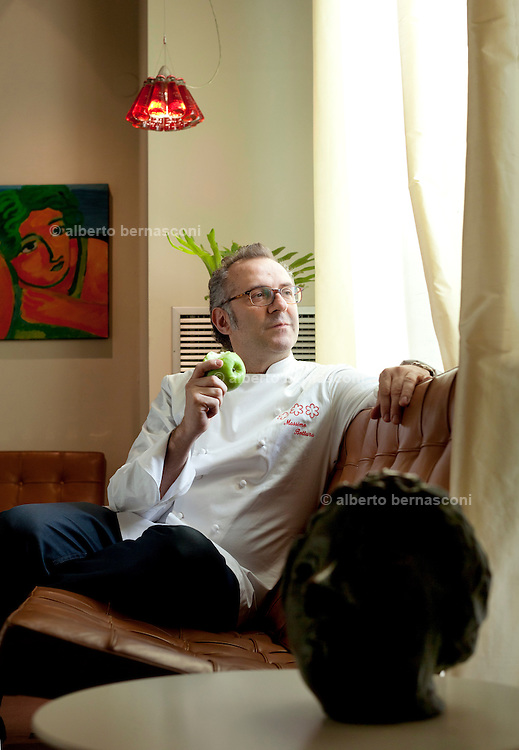 MODENA, Italy, lo chef Mssimo Bottura si è conquistato la terza stella michelin..Prize winner Chef Massimo bottura got three stars Michelin for his Osteria Francescana in Modena. .