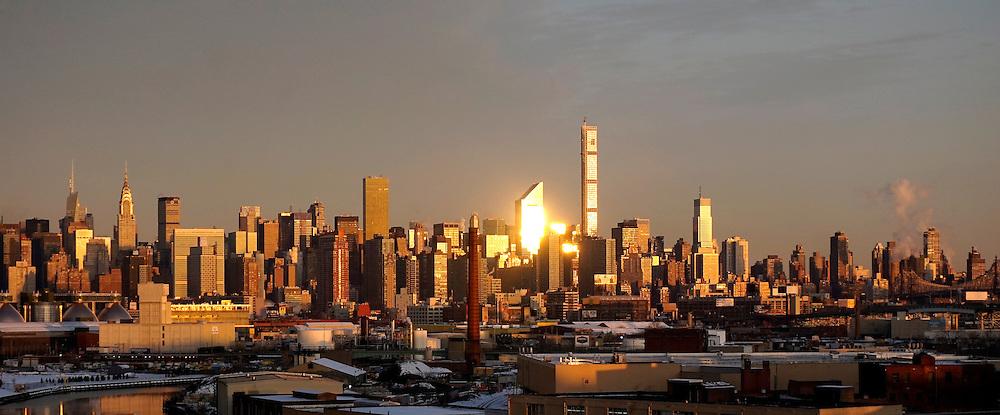 Sunrise in Manhattan New York City, US.