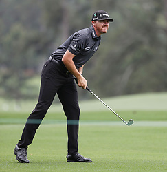 April 7, 2018 - Augusta, GA, USA - Jimmy Walker hits from the 1st fairway during the third round of the Masters Tournament on Saturday, April 7, 2018, at Augusta National Golf Club in Augusta, Ga. (Credit Image: © Jason Getz/TNS via ZUMA Wire)