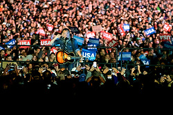Brice Springsteen performs at the final rally of Democratic Presidential candidate Hillary Clinton, on November 7, 2016, at Independence Hall, in Philadelphia, PA., USA. The same city her campaign started in, also provides the final stage for Clinton as she is joined by her family and Michelle and Barrack Obama.