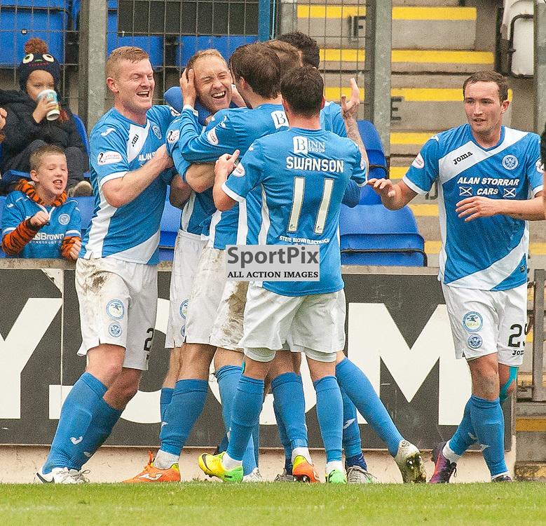 St Johnstone celebrations for 1-0 - St Johnstone v Dundee - Ladbrokes Premiership - 23 October 2016 - © Russel Hutcheson   SportPix.org.uk