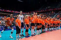 13-09-2019 NED: EC Volleyball 2019 Netherlands - Montenegro, Rotterdam<br /> First round group D Netherlands win 3-0 / Team Netherlands