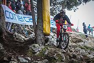 Nikolas Nestoroff (USA) during the downhill qualifying runs at the 2018 UCI MTB World Championships - Lenzerheide, Switzerland