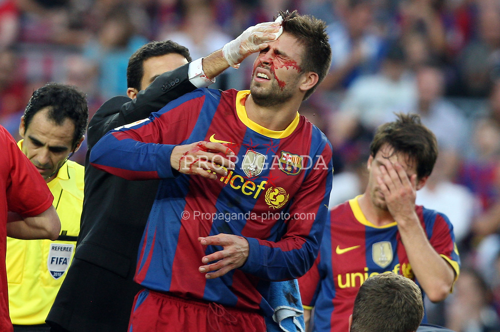 11.09.2010, Camp Nou, Barcelona, ESP, Primera Division, FC Barcelona vs Hercules Alicante, im Bild Football -Barcelona's Gerard Pique during Barcelona vs Hercules match at Camp Nou. EXPA Pictures © 2010, PhotoCredit: EXPA/ Alterphotos/ Acero +++++ ATTENTION - FOR AUSTRIA AND SLOVENIA CLIENT ONLY +++++