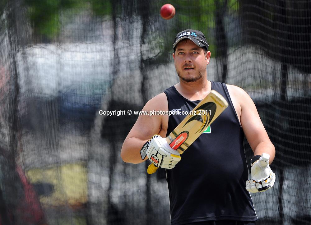 New Zealand's Jesse Ryder ahead of the first cricket test in Brisbane tomorrow. Wednesday 30 November 2011. Photo: Andrew Cornaga/Photosport.co.nz