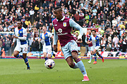 Aston Villa Forward, Jonathan Kodjia (26) during the EFL Sky Bet Championship match between Blackburn Rovers and Aston Villa at Ewood Park, Blackburn, England on 29 April 2017. Photo by Mark Pollitt.