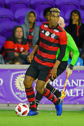 Flamengo forward Orlando Berrio (28) in action during a Florida Cup match at Orlando City Stadium on Jan. 10, 2019 in Orlando, Florida. <br /> Flamengo won in penalties 4-3.<br /> <br /> ©2019 Scott A. Miller