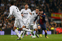 30.01.2013 SPAIN -  Copa del Rey 12/13 Matchday 1/4  match played between Real Madrid CF vs  F.C. Barcelona (1-1) at Santiago Bernabeu stadium. The picture show Lionel Andres Messi (Argentine forward of Barcelona)