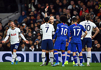 Football - 2019 / 2020 Premier League - Tottenham Hotspur vs. Chelsea<br /> <br /> Tottenham Hotspur's Son Heung-Min is shown a red card by Referee Anthony Taylor, at The Tottenham Hotspur Stadium.<br /> <br /> COLORSPORT/ASHLEY WESTERN