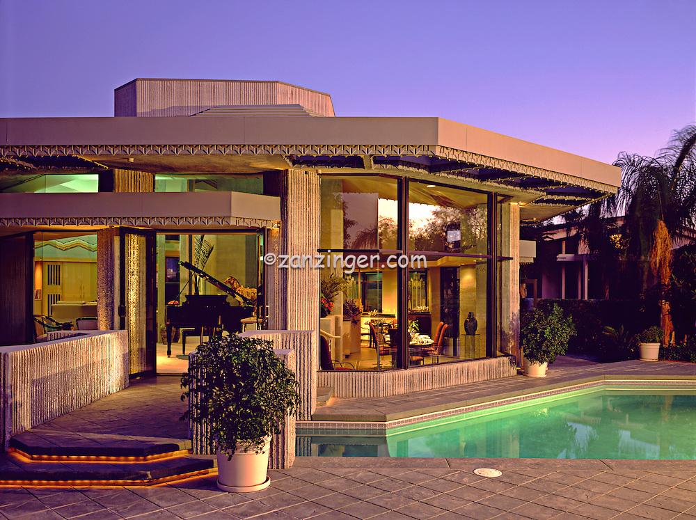 Marriott House Pool Evening Exterior Beautiful Palm Desert Ca