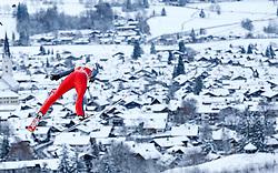 27.12.2014, Schattenbergschanze, Oberstdorf, GER, FIS Ski Sprung Weltcup, 63. Vierschanzentournee, Training, im Bild Daniel Wenig (GER) // Daniel Wenig of Germany// during practice Jump of 63 rd Four Hills Tournament of FIS Ski Jumping World Cup at the Schattenbergschanze, Oberstdorf, Germany on 2014/12/27. EXPA Pictures © 2014, PhotoCredit: EXPA/ Peter Rinderer