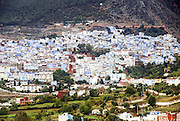 Morocco, Chefchaouen general view of the city