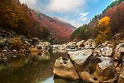 Arda river crossing beautiful Rhodopean Mountains