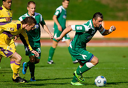 Sebastjan Cimirotic of Olimpija at 13th Round of Prva Liga football match between NK Olimpija and Maribor, on October 17, 2009, in ZAK Stadium, Ljubljana. Maribor won 1:0. (Photo by Vid Ponikvar / Sportida)