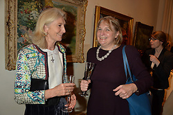LONDON, ENGLAND 28 NOVEMBER 2016: Left to right, The Hon. Jessica Dickinson, Lady Anne Somerset at a reception to celebrate the publication of The Sovereign Artist by Christopher Le Brun and Wolf Burchard held at the Royal Academy of Art, Piccadilly, London, England. 28 November 2016.