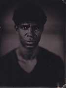 Carlos Acosta, principal ballet dancer, Royal Opera House, London, wetplate collodion tintype portrait