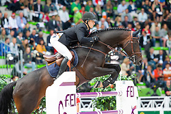 Kristaps Neretnieks, (LAT), Conte Bellini - Team & Individual Competition Jumping Speed - Alltech FEI World Equestrian Games™ 2014 - Normandy, France.<br /> © Hippo Foto Team - Leanjo De Koster<br /> 02-09-14