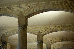 Columns and arches in the Ethnographic Room of newly renovated Neues Museum in Berlin 2009 Architect David Chipperfield