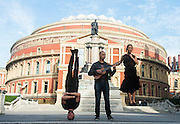 "LONDON, UK, 31 October, 2016. Nitin Sawhney with Special Guests Sebastien Ramirez and Honji Wang performing outside the Royal Albert Hall before His one off show on Wednesday featuring music from his latest album ""Dystopian Dreamer"""