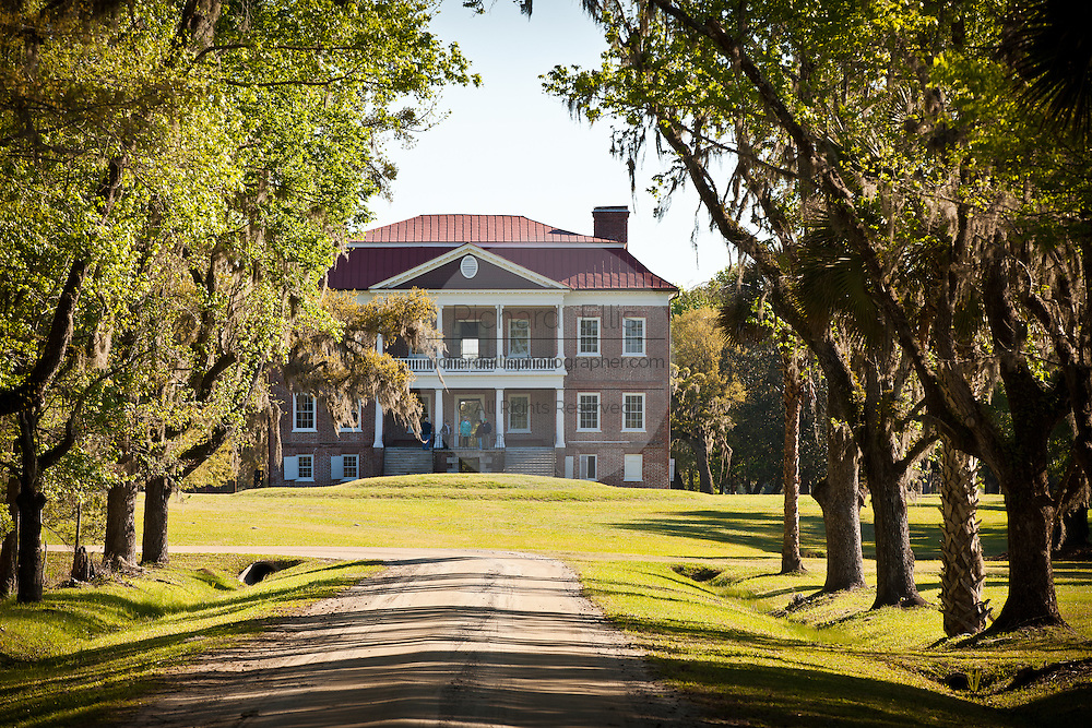 Drayton Hall Plantation in Charleston, SC. Palladian style estate built by John Drayton in 1738.
