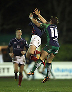 Ben Calder pulls in an up-and-under during the British &amp; Irish Cup match between London Scottish &amp; Connacht Eagles at Richmond, Greater London on Friday 29th November 2014<br /> <br /> Photo: Ken Sparks | UK Sports Pics Ltd<br /> London Scottish v Connacht Eagles, British &amp; Irish Cup,29th November 2014<br /> <br /> &copy; UK Sports Pics Ltd. FA Accredited. Football League Licence No:  FL14/15/P5700.Football Conference Licence No: PCONF 051/14 Tel +44(0)7968 045353. email ken@uksportspics.co.uk, 7 Leslie Park Road, East Croydon, Surrey CR0 6TN. Credit UK Sports Pics Ltd
