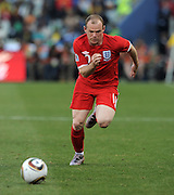 Wayne ROONEY (England) during the 2010 World Cup Soccer match between England and Germany in a group 16 match played at the Freestate Stadium in Bloemfontein South Africa on 27 June 2010.