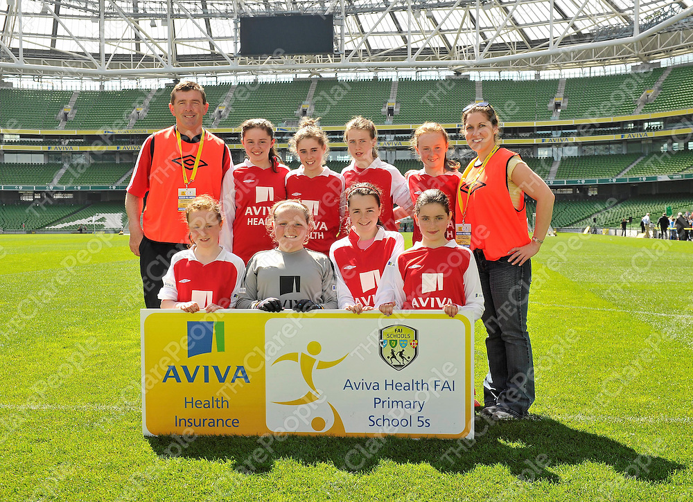 25 May 2013; The St. Joseph's NS, Miltown Malbay, Co. Clare, team. Aviva Health FAI Primary School 5's, National Finals, Aviva Stadium, Lansdowne Road, Dublin. Picture credit: Pat Murphy / SPORTSFILE *** NO REPRODUCTION FEE ***