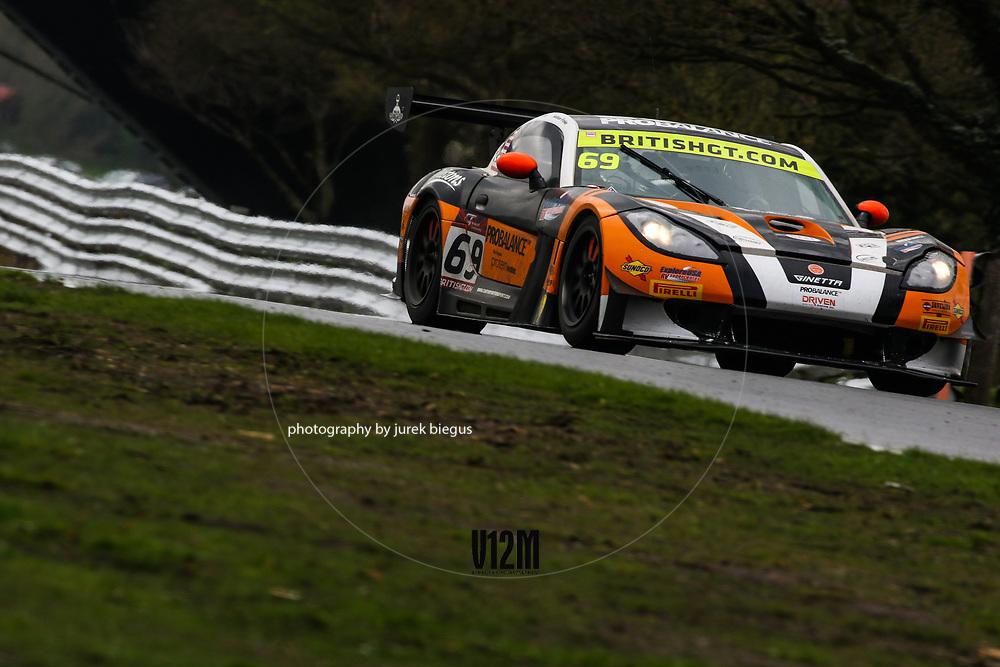 Century Motorsport | Ginetta G55 GT3 | Harry Gottsacker | British GT Championship | Oulton Park | 17 April 2017 | Photo: Jurek Biegus