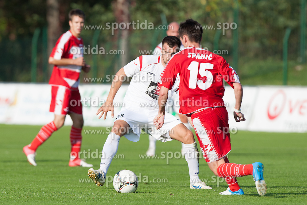 during football match between NK Aluminij and NK Rudar in 13th Round of Slovenian First League PrvaLiga NZS 2012/31 on October 7, 2012 in Kidricevo, Slovenia. (Photo By Gregor Krajncic / Sportida)