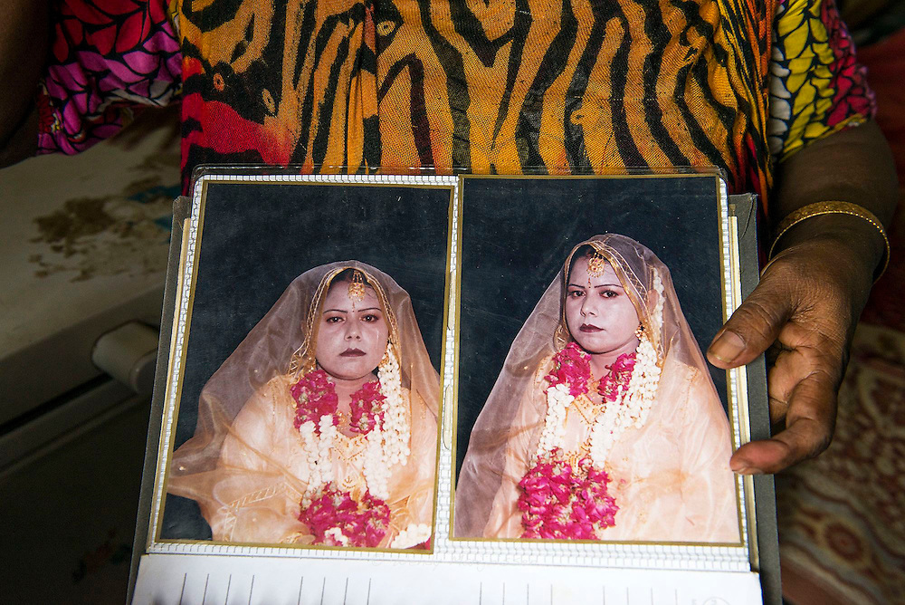 Moonie shows a photograph of her daughter on her wedding day. <br /> She was 7 months pregnant, suffered complications and both mother and baby died. <br /> Working as a cook in a family full of doctors, surgeons and gynecologists, didn't prevent her daughter from dying. <br /> Pakistan loses one women every 30 minutes to preventable complications of pregnancy and childbirth, while about 3,000 cases of obstetric fistula occur each year in the country. One in every eleven children born in Pakistan dies before his or her fifth birthday. It's estimated that around 52% of women in Pakistan give birth at home, usually without skilled or trained birth attendants.<br /> Heartbreakingly, most of the deaths and complications surrounding childbirth are treatable. Young women die because they have no access to sufficiently equipped medical facilities, or because the traditional midwife (dai) doesn't refer the women in time to the hospitals when complications arise and a caesarean section is needed. In a place where poverty is rife, most families can't afford the medicine or care they require. Karachi, Pakistan