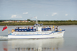 The Viking Saga excursion boat on the Blackwater River in Essex.