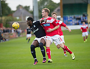 Dundee&rsquo;s Roarie Deacon and Brechin's Euan Spark - Brechin City v Dundee pre-season friendly at Glebe Park, Brechin, Photo: David Young<br /> <br />  - &copy; David Young - www.davidyoungphoto.co.uk - email: davidyoungphoto@gmail.com