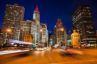 DuSable Bridge (Michigan Avenue), Downtown Chicago