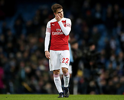 Arsenal's Denis Suarez reacts after the final whistle during the Premier League match at the Etihad Stadium, Manchester.