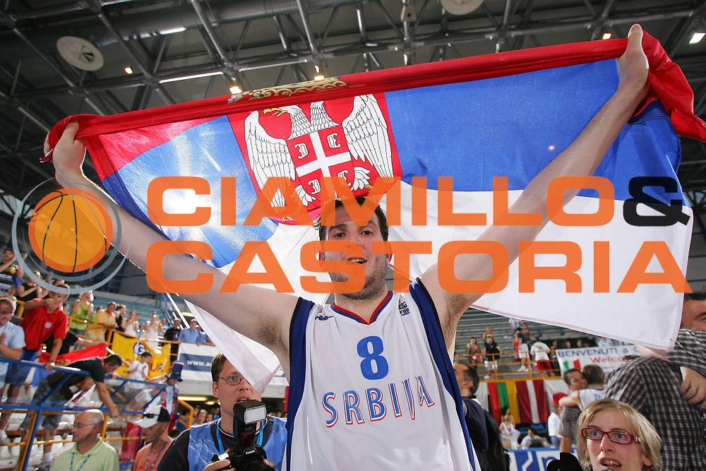 DESCRIZIONE : Gorizia U20 European Championship Men Final Serbia Spain <br /> GIOCATORE : Labovic <br /> SQUADRA : Serbia <br /> EVENTO : Gorizia U20 European Championship Men Final Serbia Spain Campionato Europeo Maschile Under 20 Finale Serbia Spagna <br /> GARA : Serbia Spain <br /> DATA : 15/07/2007 <br /> CATEGORIA : Esultanza <br /> SPORT : Pallacanestro <br /> AUTORE : Agenzia Ciamillo-Castoria/S.Silvestri <br /> Galleria : Europeo Under 20 <br /> Fotonotizia : Gorizia U20 European Championship Men Final Serbia Spain <br /> Predefinita :