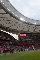 April 22, 2018 - Madrid, Madrid, Spain - Wanda Metropolitano. Null in Wanda Metropolitano between Atletico de Madrid and Real Betis. Atletico de Madrid thinks in Europa League match. (Credit Image: © Jorge Gonzalez/Pacific Press via ZUMA Wire)