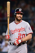 PHOENIX, AZ - AUGUST 03:  Daniel Murphy #20 of the Washington Nationals laughs while at bat in the first inning Arizona Diamondbacks at Chase Field on August 3, 2016 in Phoenix, Arizona.  (Photo by Jennifer Stewart/Getty Images)