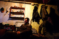 039078.AA.0820.warming24.kc--Bering Sea, Off Providenya, Russia--Hunters wait in their bedroom before heading out to sea. The story deals with the enviromental issue of global warming throughout the region of Russia directly across the Bering Sea from Nome, Alaska. The story touches on the people their way of living, the rough economy and the extent they are effected by the slowly warming temperature as documented by scientists.  More Details To Come.