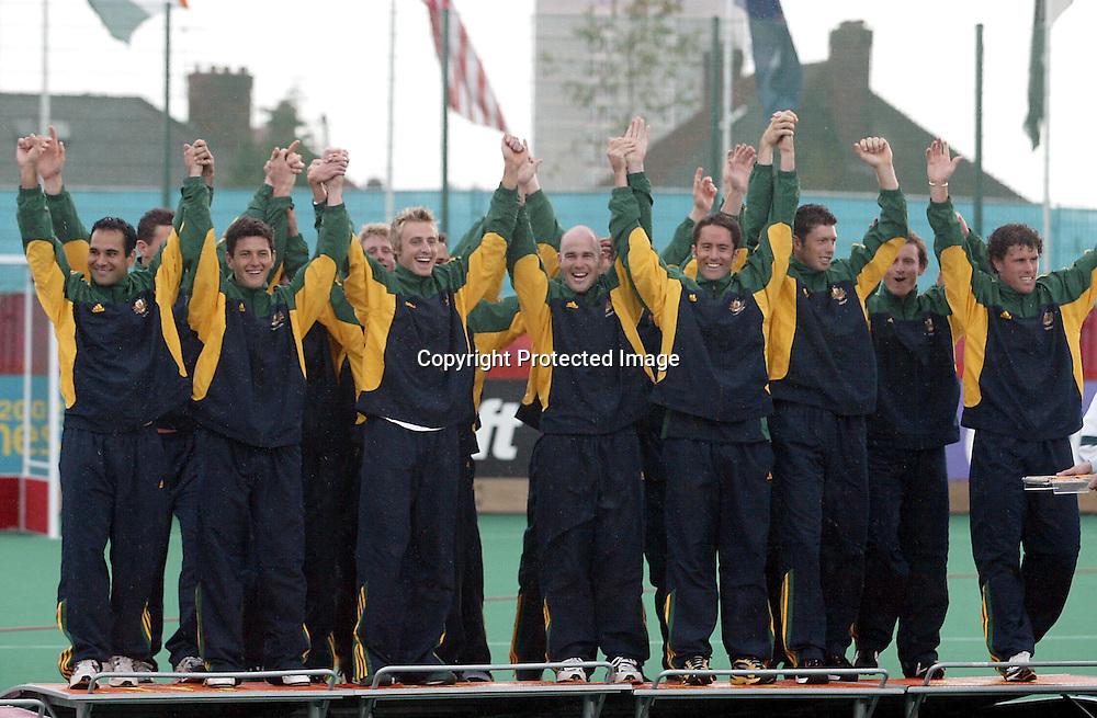 4th August 2002, Belle Vue Hockey Complex. Men's Hockey Final. New Zealand v Australia. Commonwealth Games Manchester England. <br />Gold winners - Australia.<br />Pic:Andrew Cornaga/Photosport
