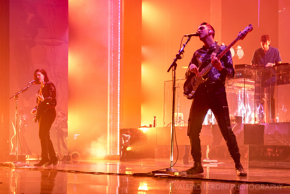 The XX at the London Brixton Academy on Saturday 11 Mar 2017 for their Night &amp; Day residency.<br /> <br /> This photo has been published in 20 Minutes France on http://www.20minutes.fr/culture/diaporama-952-betes-scene