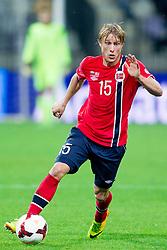 Per Ciljan Skjelbred of Norway during the FIFA World Cup 2014 Group E qualification match between Slovenia and Norway on October 11, 2013 in Stadium Ljudski vrt, Maribor, Slovenia. (Photo by Urban Urbanc / Sportida)