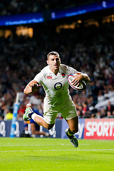 England Winger Jonny May scores his first try of the game - Mandatory byline: Rogan Thomson/JMP - 07966 386802 - 15/08/2015 - RUGBY UNION - Twickenham Stadium - London, England - England v France - QBE Internationals 2015.