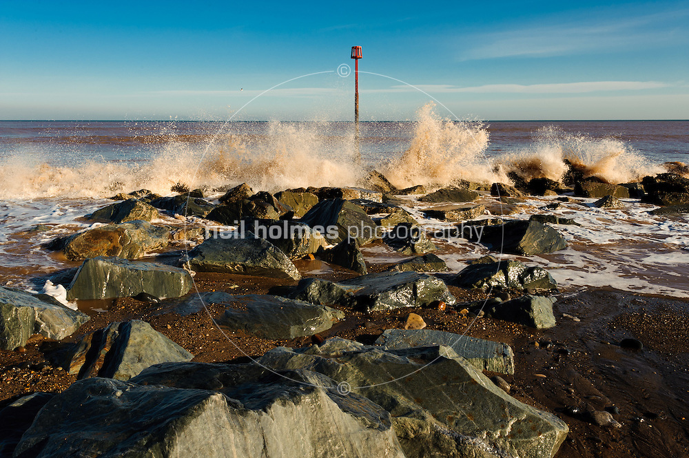 Winter on Withernsea seafront