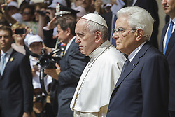 June 10, 2017 - Rome, Italy - POPE FRANCIS makes a visit to the President of the Italian Republic SERGIO MATTARELLA at the Quirinale Palace in Rome. (Credit Image: © Giuseppe Ciccia/Pacific Press via ZUMA Wire)