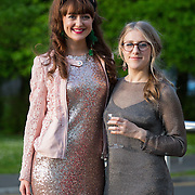 13.05.2016.           <br /> Maureen Butler, Donegal and Hannah Large, Castlebar Co. Mayo pictured at the much anticipated Limerick School of Art & Design, LIT, (LSAD) Graduate Fashion Show on Thursday 12th May 2016. The show took place at the LSAD Gallery where 27 graduates from the largest fashion degree programme in Ireland showcased their creations. Ranked among the world's top 50 fashion colleges, Limerick School of Art and Design is continuing to mold future Irish designers.. Picture: Alan Place/Fusionshooters