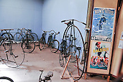 New Zealand, South Island, Nelson. Founders Heritage Park vintage bicycles