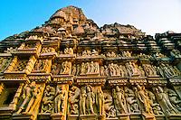 Sculptures, Eastern Temple group, Khajuraho, India